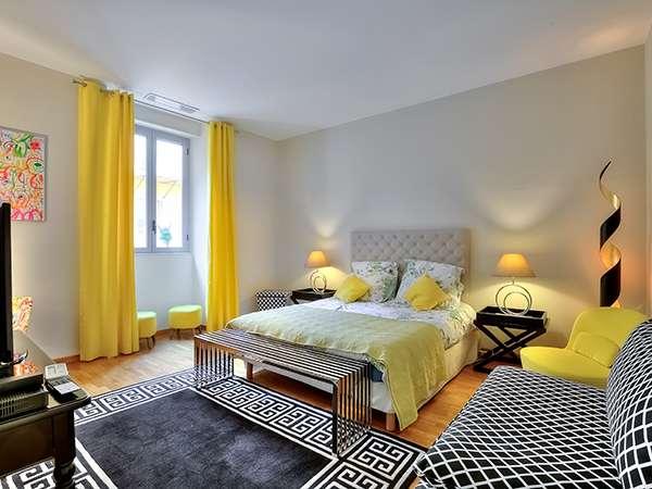 Chambre Jaune de l'Appartement Massena Dream